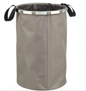 LOMOS cesta per biancheria indeformabile in un elegante colore grigio con una capacità di 70L
